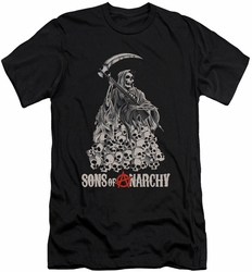 Sons of Anarchy slim-fit t-shirt Pile of Skulls mens black