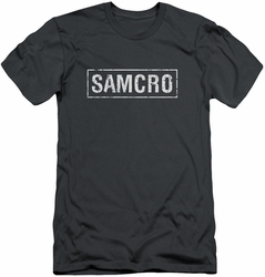 Sons Of Anarchy slim-fit t-shirt Samcro mens charcoal