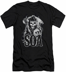 Sons Of Anarchy slim-fit t-shirt Smoky Reaper mens black
