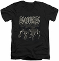 Sons of Anarchy Sons Live Free mens black v-neck t-shirt