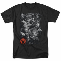 Sons Of Anarchy t-shirt Group Fight mens black