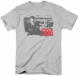 Sons of Anarchy t-shirt Jax Block mens silver