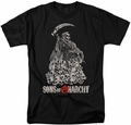 Sons of Anarchy t-shirt Pile of Skulls mens black