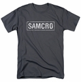 Sons Of Anarchy t-shirt Samcro mens charcoal