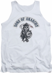 Sons Of Anarchy tank top Bloody Sickle mens white