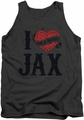 Sons Of Anarchy tank top I Heart Jax mens charcoal