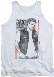 Sons Of Anarchy tank top Jax President mens white