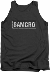 Sons Of Anarchy tank top Samcro mens charcoal