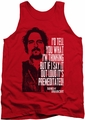 Sons Of Anarchy tank top With Tig mens red