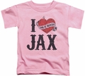 Sons of Anarchy toddler t-shirt I Heart Jax pink
