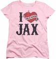 Sons of Anarchy womens t-shirt I Heart Jax pink