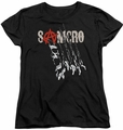 Sons of Anarchy womens t-shirt Rip Through black