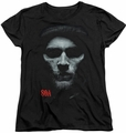 Sons of Anarchy womens t-shirt Skull Face black