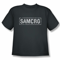 Sons Of Anarchy youth teen t-shirt Samcro charcoal