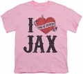 Sons of Anarchy youth teen t-shirt I Heart Jax pink