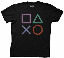 Sony Playstation Vintage Icons mens t-shirt