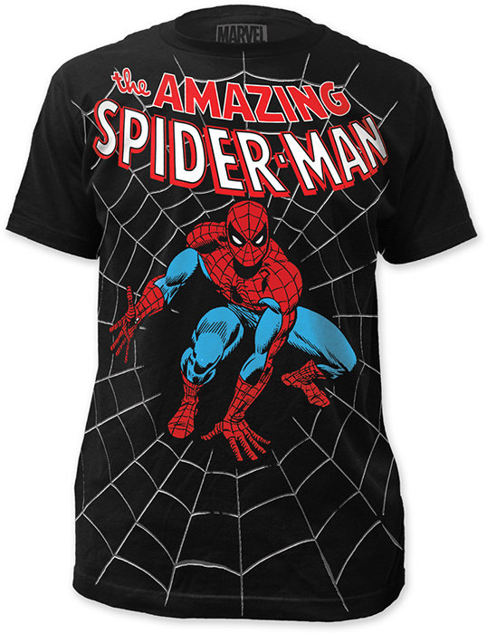 Spider man amazing big print subway t shirt at urban collector This guy has an awesome girlfriend shirt