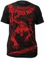 Spider-Man big print subway mens t-shirt spider or the man black preorder