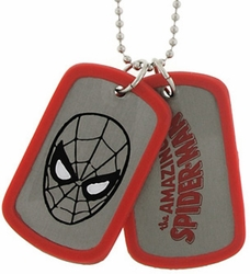 Spider-Man Face double sided Dog Tag