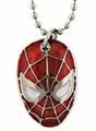 Spider-Man Face Necklace Pendant