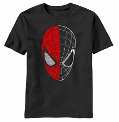 Spider-Man Half Gone Spidey Head mens t-shirt