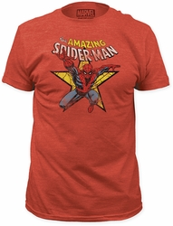 Amazing Spider-Man Star Fitted Jersey t-shirt