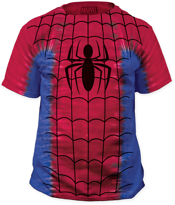 Spider man tie dye big print subway t shirt at urban collector for Tie dye t shirt printing
