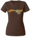 Squirrel Girl Logo juniors crew dark chocolate womens pre-order