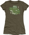 Ireland juniors sheer t-shirt Lucky's Shamrock Cafe military green