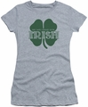 Ireland juniors sheer t-shirt Lucky To Be Irish athletic heather