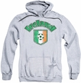 Ireland pull-over hoodie Ireland With Soccer Flag adult athletic heather