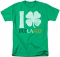 Ireland t-shirt I Love Ireland mens kelly green