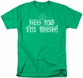 Ireland t-shirt Kiss Me I'm Irish mens kelly green