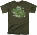 Ireland t-shirt Lucky's Shamrock Cafe mens military green