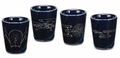 Star Trek 4 pc. Ceramic Shot Glasses