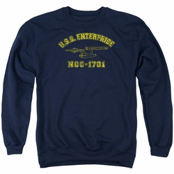 Star Trek adult crewneck sweatshirt Enterprise Athletic navy