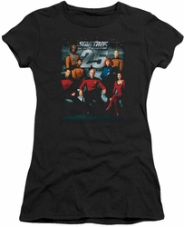 Star Trek juniors t-shirt 25th Anniversary Crew black