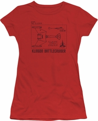 Star Trek juniors t-shirt D7 Diagram red