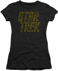 Star Trek juniors t-shirt Distressed Logo black