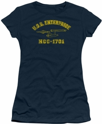 Star Trek juniors t-shirt Enterprise Athletic navy