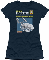 Star Trek juniors t-shirt Enterprise Manual navy