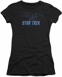 Star Trek juniors t-shirt Enterprise Outline black