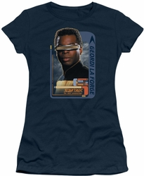 Star Trek juniors t-shirt Geordi Laforge navy