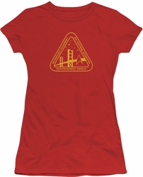 Star Trek juniors t-shirt Gold Academy red