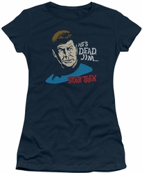Star Trek juniors t-shirt He's Dead Jim navy