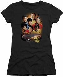 Star Trek juniors t-shirt Heart of The Enterprise black