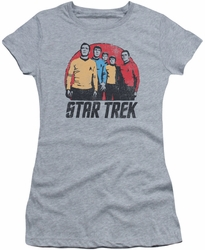 Star Trek juniors t-shirt Landing Party athletic heather
