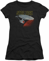Star Trek juniors t-shirt Retro Enterprise black