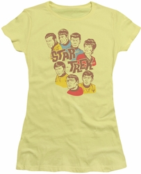 Star Trek juniors t-shirt Retro Illustrated Crew banana