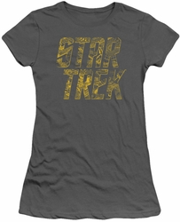Star Trek juniors t-shirt Schematic Logo charcoal